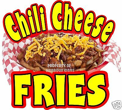 """Chili Cheese Fries Decal 8"""" Concession Restaurant Food Truck Cart Vinyl Sticker"""