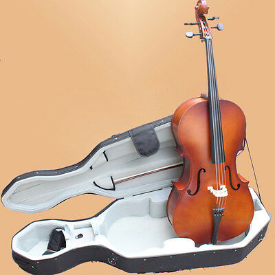 New Student 3/4 Cello+Hard Case+Bag+Bow+Rosin-Vintage Color-Free Shipping To Us