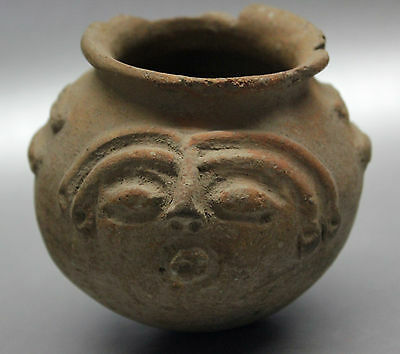 B.c.a.d. Art - 1200 A.d. Timoto-Cuica Two-Faced Pottery Vessel