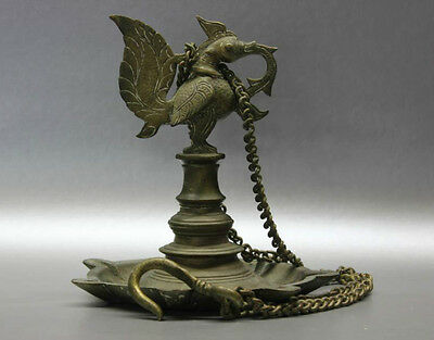 B.C.A.D ART- 17th CENTURY BRONZE TEMPLE LAMP