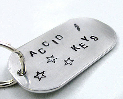 Accio Keys - Hand Stamped Aluminum Harry Potter Keychain