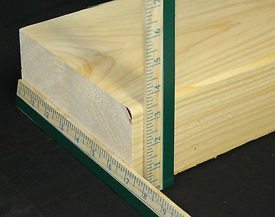 "3.25"" Thick 7"" Depth Up to 8' Long Fireplace Mantel Shelf Planed Smooth New"