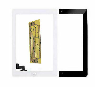 Ipad 2 3 Lcd Touch Screen Replacement Front Glass Lens Pad Black White Adhesive