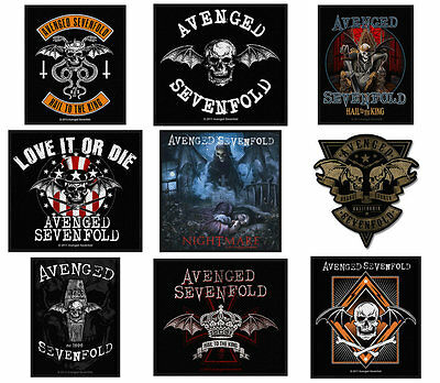 Avenged Sevenfold Sew On Patch/Patches NEW OFFICIAL Choice of 9 designs