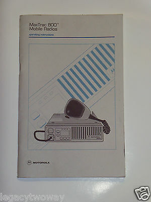 Motorola MaxTrac Mobile Radios Operating Instructions 68P80900Z54-A