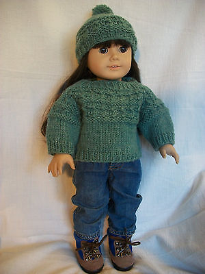 Knitted 18 inch doll clothes - free barbie doll clothing