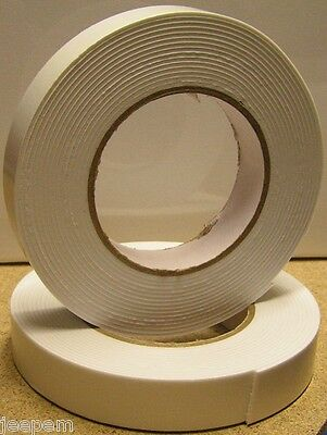 10 Metres Double Sided Self Adhesive Foam Craft Tape Padded Mounting White New