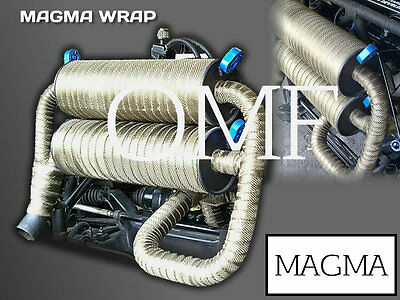 HIGH TEMPERATURE Magmawrap® Exhaust Wrap 50mm x 30M Heat Bandage UK MADE