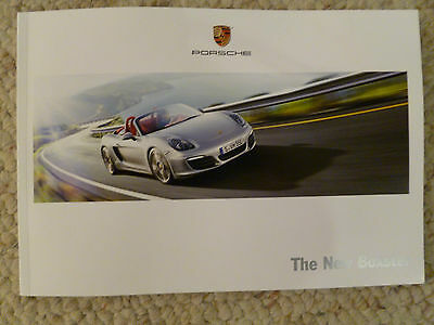 """2012 Porsche """"The New Boxster"""" Showroom Sales Brochure RARE!! Awesome L@@K"""