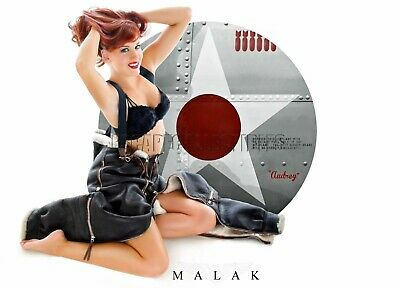WWII Nose Art Cheesecake Pin Up Girl Giclee Michael Malak Audrey Print 11X17