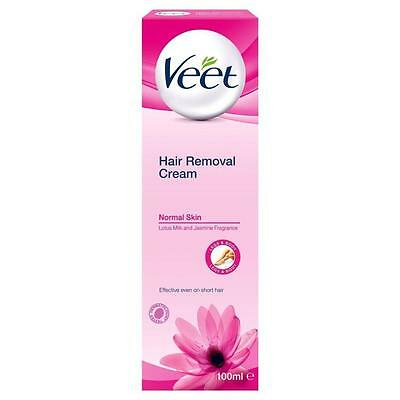 ** VEET HAIR REMOVAL CREAM NORMAL SKIN LOTUS MILK & JASMINE 100ml ** NEW