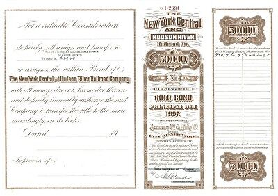 NY Central & Hudson R Railroad (1936) issued to Countess Vanderbilt Széchenyi