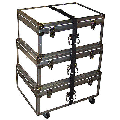"Triple Accessory Case Rolling Stack! 1/4"" Medium Duty - Many Colors! - WHITE"