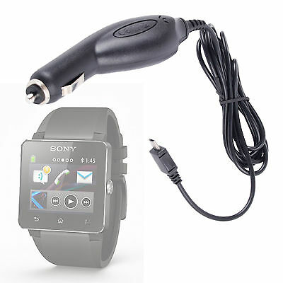 In-Car Cigarette Lighter USB Charger For Sony Smartwatch/Smartwatch 2 - CE Certi