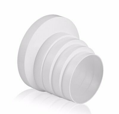 Ducting Pipe Reducer PVC 100mm 110mm 120mm 125mm 150mm Extractor Fan Multistage