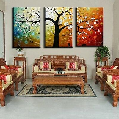 3pc handmade modern abstract on canvas decorative oil painting no frame A680