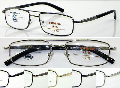 L443 Superb Quality Reading Glasses/ Spring Hinges & Double Bridge Classic Style