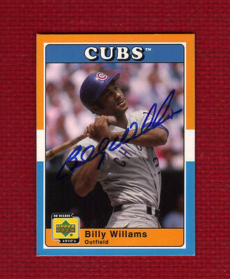 BILLY WILLIAMS Autograph Auto 2001 Upper Deck CHICAGO CUBS HOF Signed  NICE!