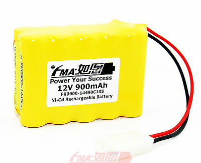 Ni-Cd AA 12V 900mAh Rechargeable Battery for Model toys Emergency light 10SX US