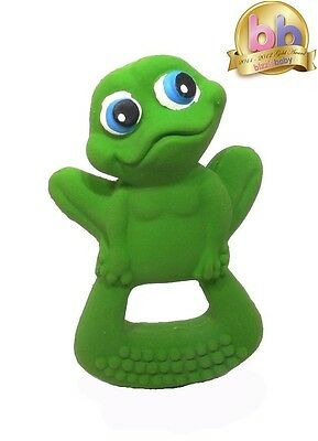 LANCO 100% Natural Rubber Frog Baby Teether Sensory Bath Time Toy