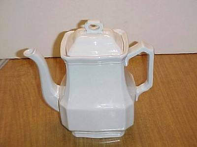 J&G Meakin Ironstone White Tea Pot and Lid