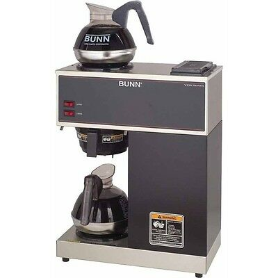 BUNN VPR 12-Cup Coffee Maker, Commercial Brewer Machine w/ Upper & Lower Warmers