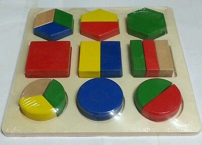 Wooden geometry sorting shape educational puzzle Montessori early learning Toy
