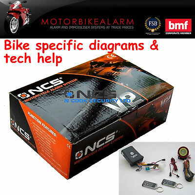 Ncs V2 Motorbike Bike Motorcycle Alarm & Immobiliser Remote Control Start