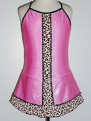 CUSTOM MADE TO FIT Leopard Figure Skating Dress