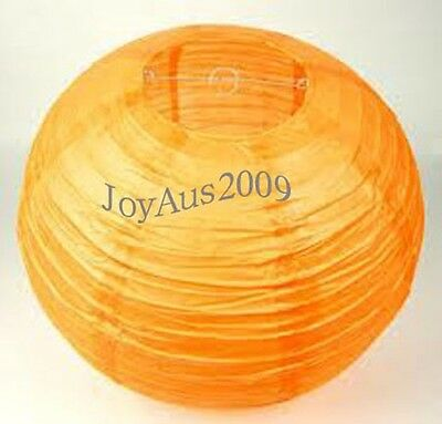 12x mixed size orange paper lanterns engagement wedding party home decoration