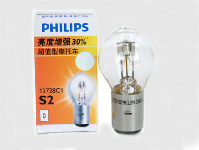 PHILIPS 12728 Premium Vision S2 12V 35/35W BA20d +30% Motorcycle Headlight Bulb