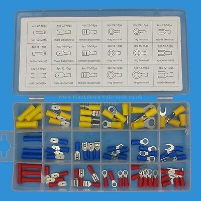 76 Piece Terminal Assortment in Storage Case Toolzone PL277