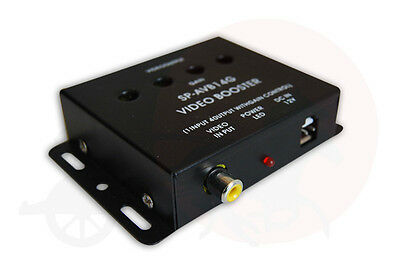 4 Channel RCA Video Booster / Splitter for Car TV, DVD, CCTV with Gain Control