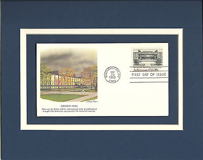 Mies van der Rohe Crown Hall IIT 1st Day Cover Crown Hall van der Rohe Stamp