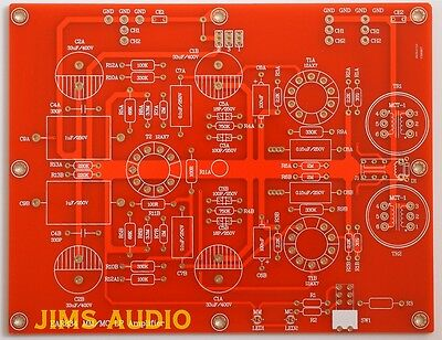 Tube RIAA phono stereo pre-amplifier premium PCB 834P very musical !