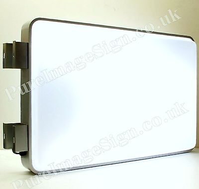 "LED 60x90cm 24""x36"" Outdoor Projecting Illuminated Sign Blank Light Box"
