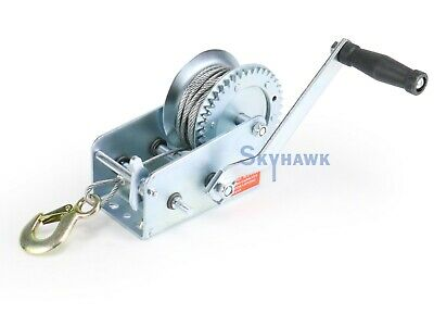 NEW Heavy Duty 2000 LB HAND CABLE WINCH  FOR AUTO BOAT TRAILER  TOOL TOW PULLER