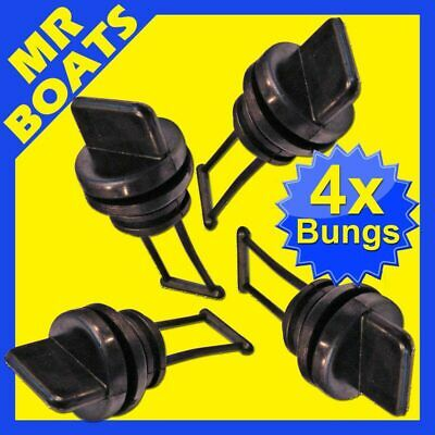 4 x REPLACEMENTS BOAT BUNGS ONLY-COARSE THREAD- FREE POST MARINE STD SIZE DRAINS