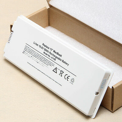 """New 59WH Laptop Battery for Apple MacBook 13"""" 13.3"""" A1181 A1185 MA561 White"""