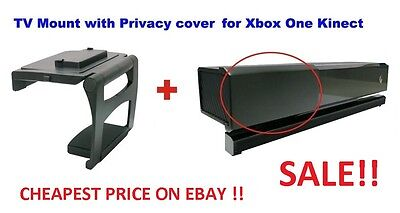 Microsoft Xbox One Kinect Tv Mount And Privacy Cover Combo Sensor 2.0 Black
