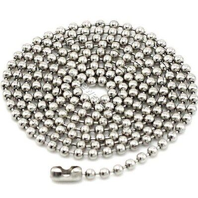 """Stainless Steel 2.5mm Ball Chain Necklace 16"""" - 39"""""""