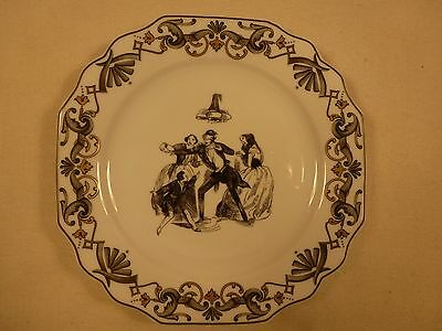 """MOTTAHEDEH """"VIENNA EVENING"""" 7"""" BREAD AND BUTTER PLATE WITH CENTER ART GORGEOUS"""