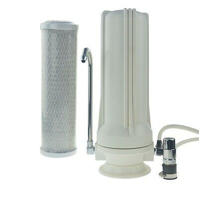 Single Counter Top Bench Top Water Filter System with Carbon Cartridge