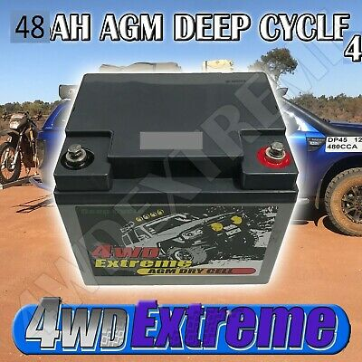 Deep Cycle Agm 130Ah Battery - Box - Redarc Combo Bcdc1225Lv Hvt86D Bpe330 Px Lt