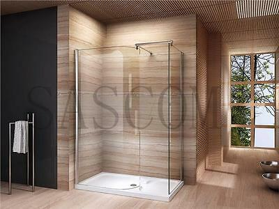 Walk In Shower Enclosure Cubicle Glass Screen Tray Waste 1200 1400 800 900