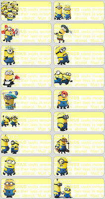18 Minions Personalised name Label Sticker School book despicable me Childcare 2