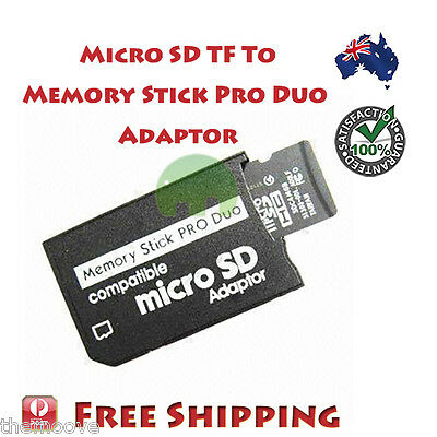Micro SD SDHC TF to Memory Stick MS Pro Duo Reader For PSP Adapter Converter
