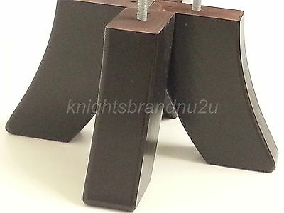 4x WOODEN CURVED FURNITURE LEGS FEET FOR SOFAS, SETTEES, CHAIRS & FOOTSTOOLS M10