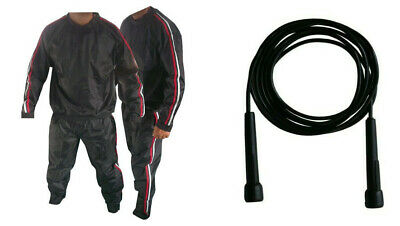 Heavy Duty Sauna Suits Gym Suits Anti Rip Weight Loss Exercise Free Rope M.4Xl