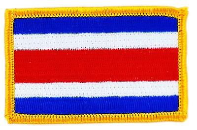 Patch écusson brodé Drapeau COSTA RICA Thermocollant  Insigne Blason